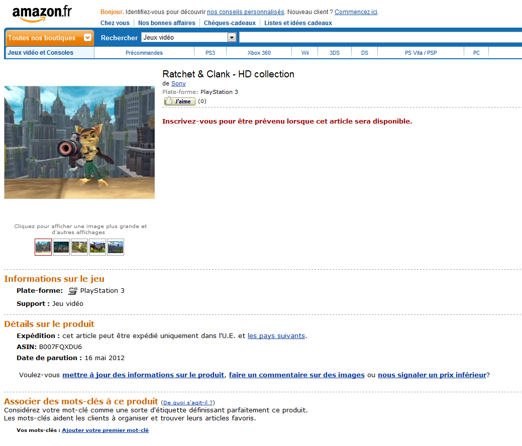 'Ratchet & Clank HD Collection spotted' Screenshot 1