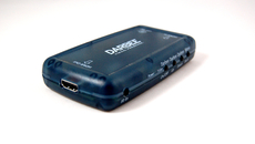 The Darblet itself is compact - you can use the HDMI slot in the picture as a point of reference. There are just two AV connections on the Darbee - one input and one output - which can also be used to power the unit, although a PSU is provided.