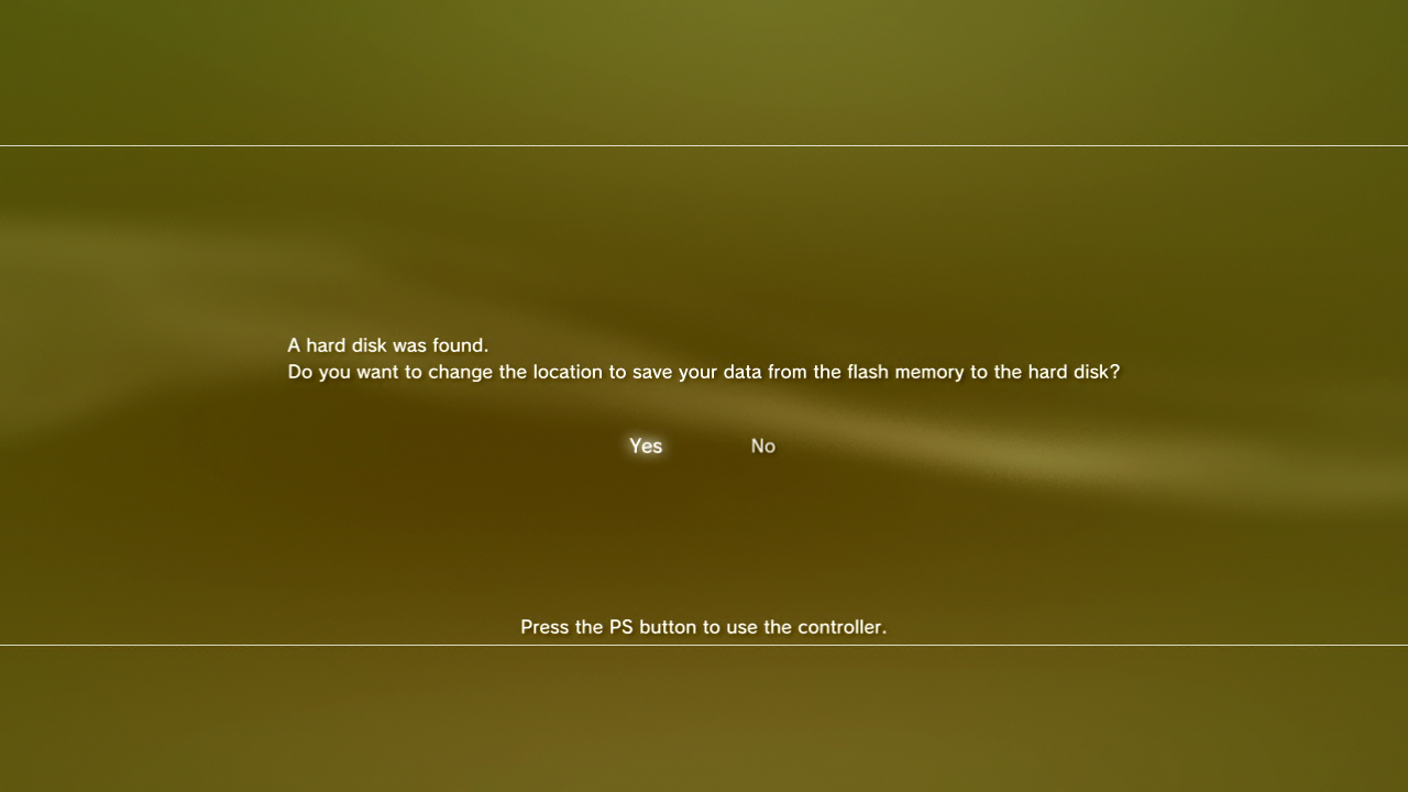 Here Are The Visual Prompts The Ps3 Gives You When A New Drive Is Inserted  Into The 12gb Model Essentially The Flash Chip Data Is Copied Across To  The New