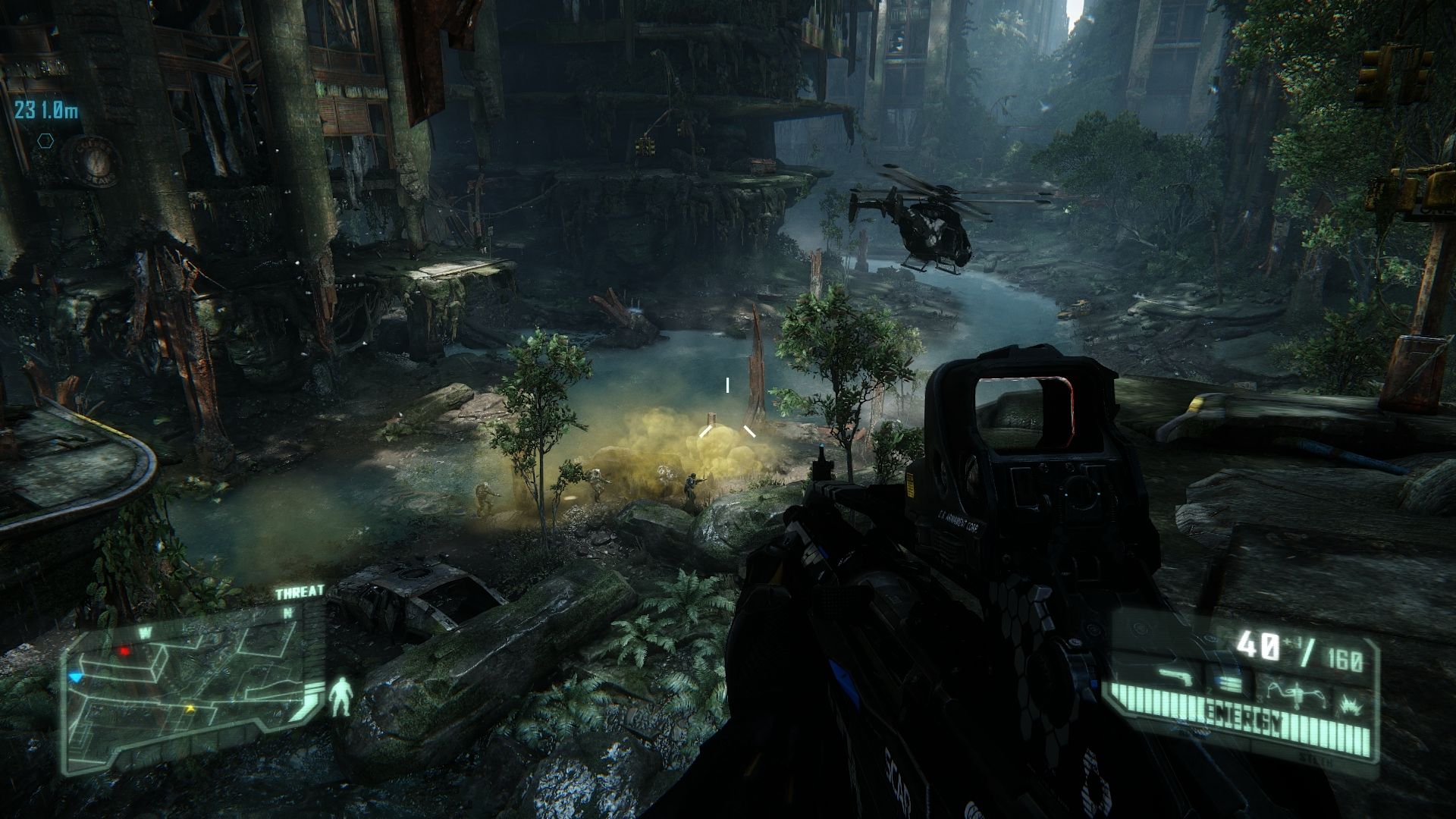 Crysis 3 graphics comparison pc maxed settings vs xbox 360 1080p - The Pc Version Running At 1080p And With The Graphical Sliders Ramped Up To The Higher Settings Produces A Gameplay Experience Far Removed From The