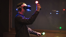 PlayStation Move is Sony's secret weapon - it's the most fully-formed 3D interface available and works brilliantly in the demo we played, giving you 'hands' and allowing you to physically interact with the environment.