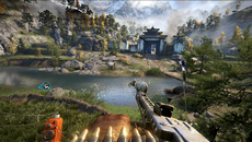Draw distances in Far Cry 4's hands-on are hugely impressive, with mountainous backdrops showing little in the way of LOD scaling.