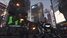 Clip size and ammo type are shown on the gun itself, with Sledgehammer Games abandoning the usual HUD for an approach closer to its work on the first Dead Space.