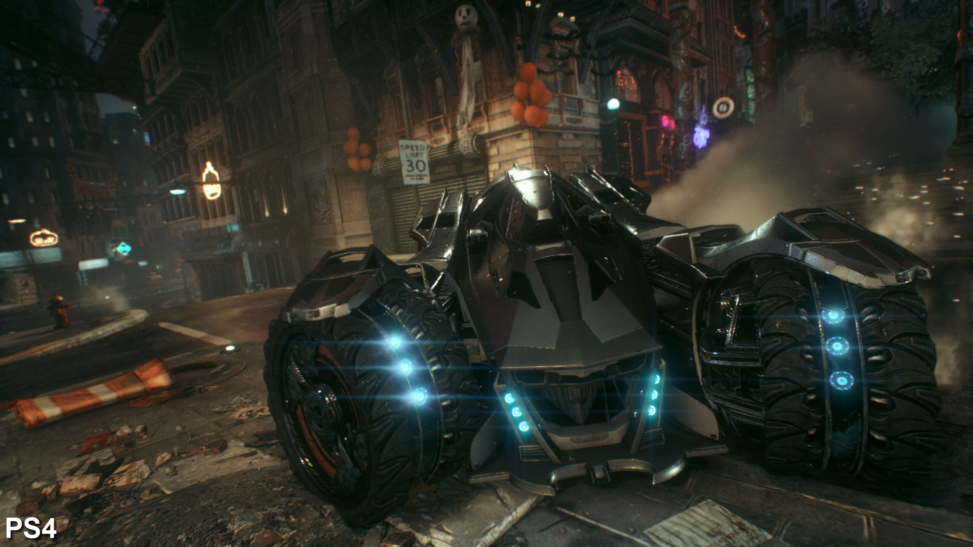 Arkham Knight s particle and smoke effects are more plentiful than the last  game s, and put to extensive use when driving around in the Batmobile. 4cc2c4099a