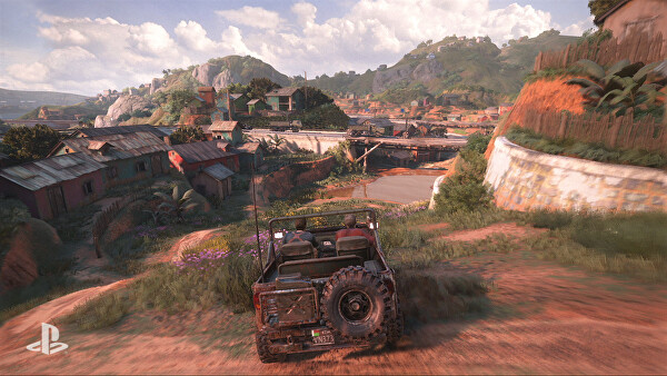 Vehicle control is a recurring element of Uncharted 4. Just as well too - level design in Madagascar is far more open-ended than is usual for the series.
