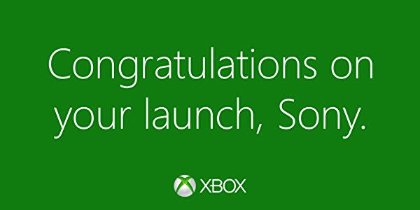 Microsoft congratulates Sony on its PS4 launch