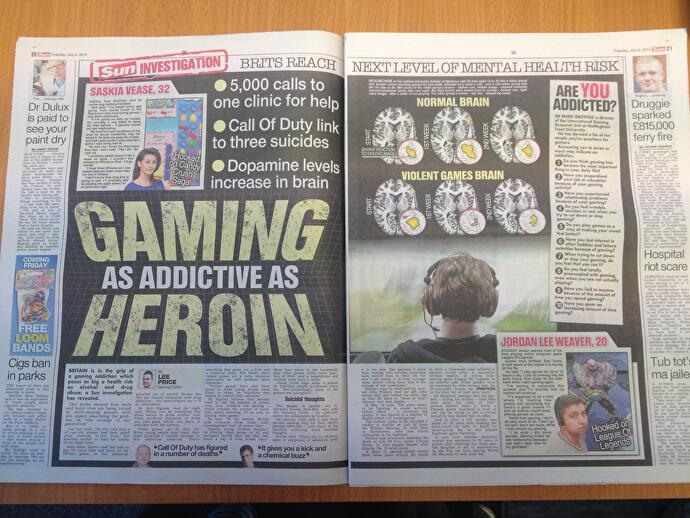 the real story behind the sun s gaming as addictive as heroin