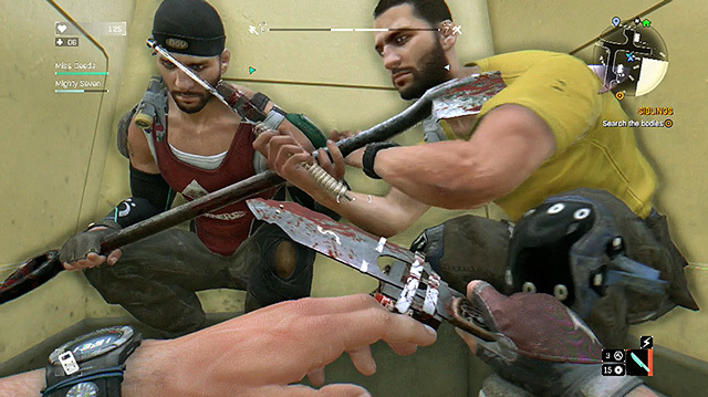 Here's Us Racing to Collect Booze and Metal in Dying Light Co-op