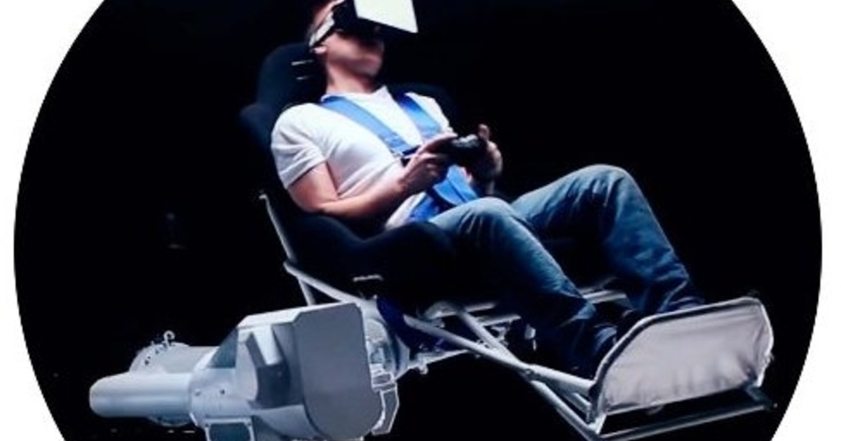 The Mmone Is A Three Axis Virtual Reality Chair Attached