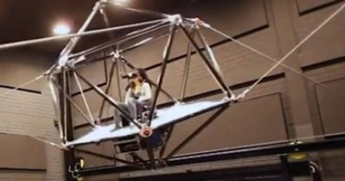 Wireless Vr System Uses A Cage Suspended In Mid Air