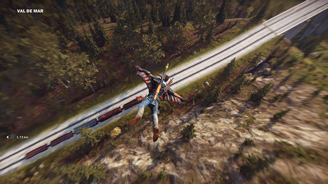 It's Wingsuits vs Train in a Just Cause 3 Xmas Challenge