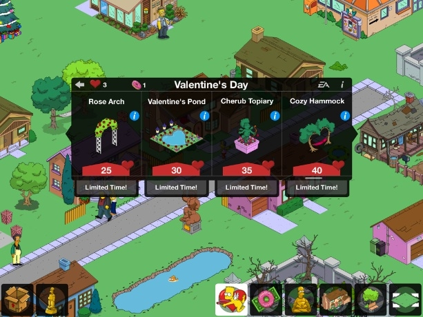 The Simpsons: Tapped Out- Get More Hearts  Modojo.com