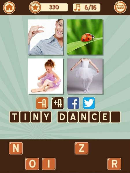 Pics 1 Song Cheats, Answers & Solutions: Level 9 1-16