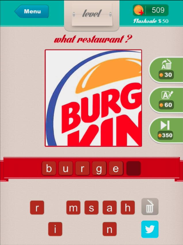 What Restaurant Answers Level 58