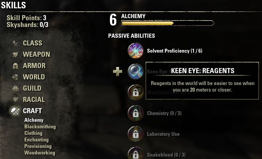 Eso Crafting Guide Provisioning