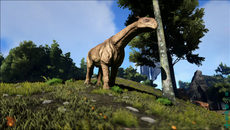 Image quality isn't one of Ark's strong points. Currently the game renders in a native resolution around the 1088x612 mark, possibly a little higher. Visuals appear soft, while edges across foliage and distant geometry look rough.