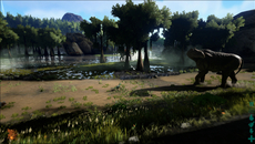 Swamplands and dark forest areas stand out in Ark. Here we see how rolling fog and dim lighting conditions add atmosphere to these locations throughout the game.