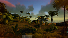 Dynamic lighting leads to some moody scenes in Ark, such as this view of the beach during sunset. However, lighting can also appear flat and quite harsh under brighter daylight conditions.