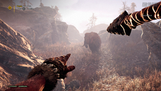 Far Cry Primal opens with some beautiful volumetric lighting on PS4, not emphasised to nearly the same degree in the last game on console.