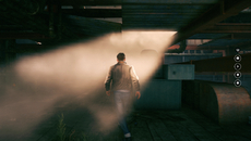 The low resolution of the volumetric effects becomes obvious in scenes such as this.