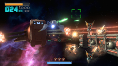 Platinum Games doesn't hold back when it comes to effects, and Star Fox Zero's battles often descend into a frenzy of alpha-based explosions.