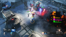 There are plenty of dynamic lights at play throughout the game. Here, weapons fire casts light across the environment and other characters, adding extra flair to the combat.
