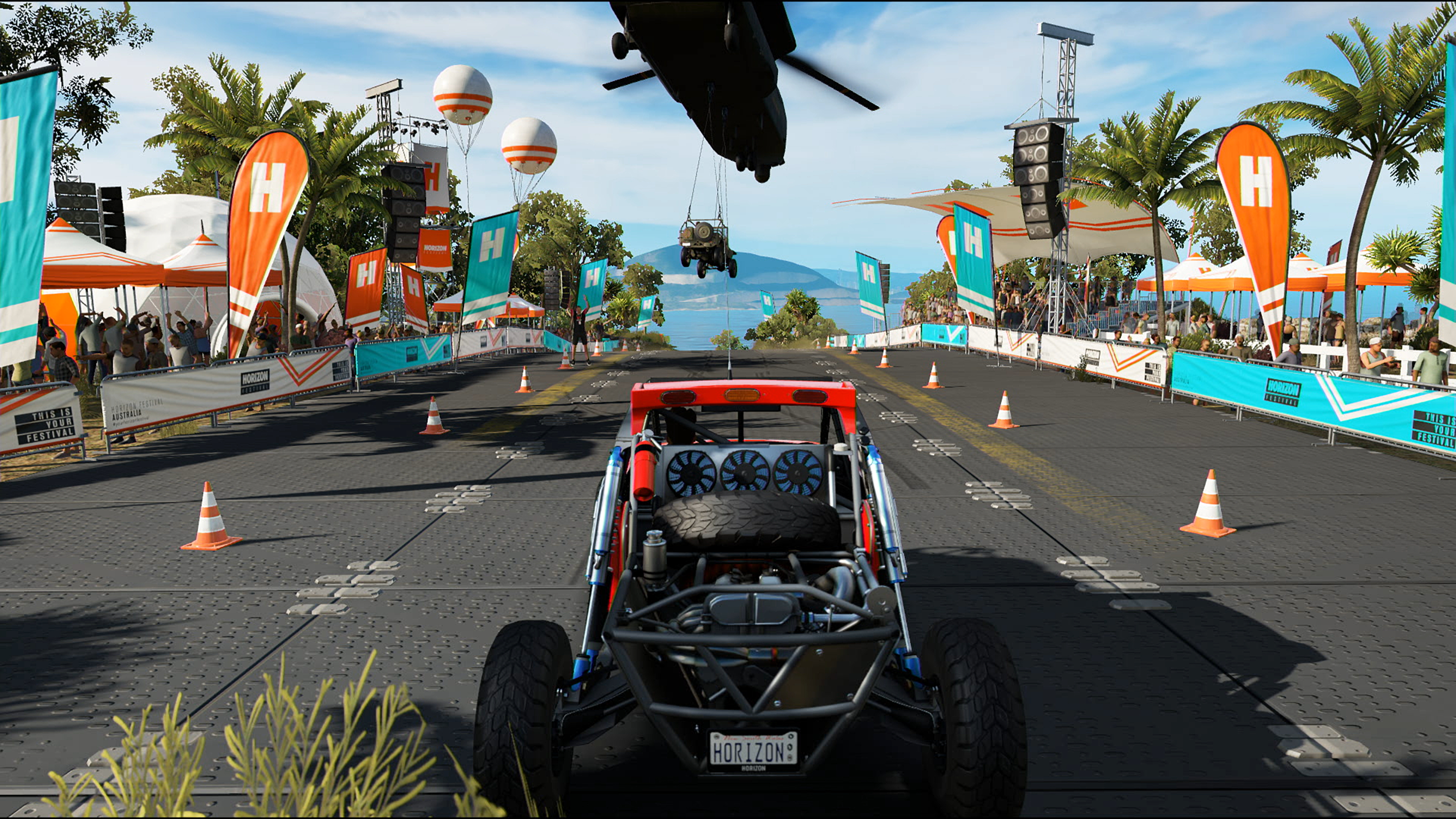 Forza Horizon 3 At 4k 60fps Is Simply Breathtaking Real Lifelike Representation Of The Circuit To Get A Better Look Into Far Distance Around Mountain And Youll See Pc Version Resolving More In Way Detail View Pushed Out