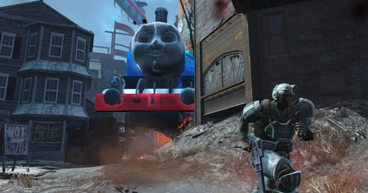 Witness The Horror Of Thomas The Tank Engine In Fallout 4