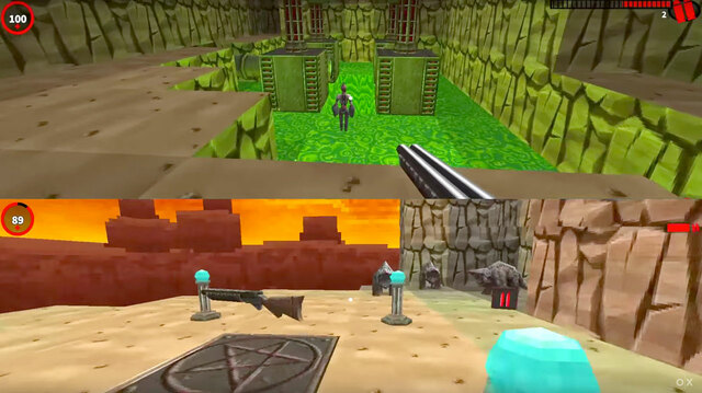 Gunscape Is Splitscreen Minecraft But With Guns on Xbox One