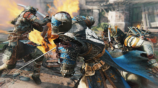 Knights Take on Samurai in Multiplayer For Honor Gameplay