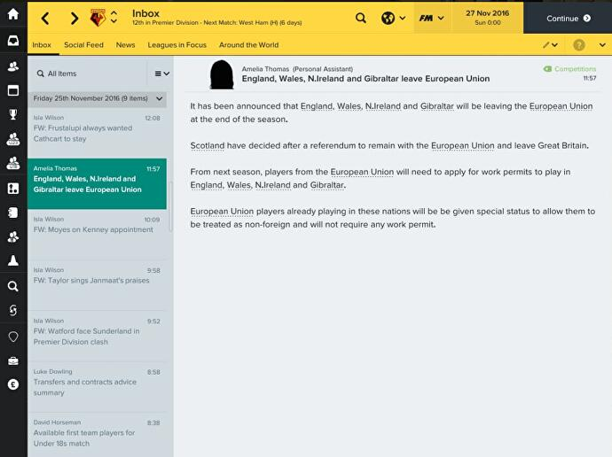 What I learned from the scary Brexit from Football Manager 2017