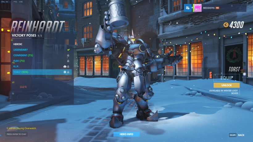 Overwatch Christmas Skins.Winter Wonderland Christmas Victory Poses Overwatch Metabomb