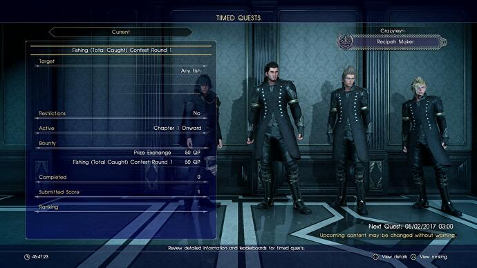 Final Fantasy 15 Timed Quests - How to earn Quest Points (QP