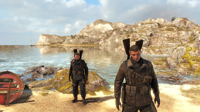 Behold Our Hero and Wingman Duo in Sniper Elite 4 Co-op Gameplay