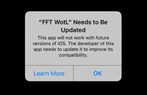 Older iPhone, iPad games now warn they'll soon become