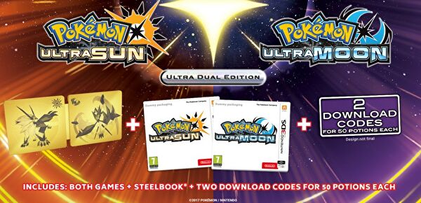 Pokémon Ultra Sun and Ultra Moon special edition includes