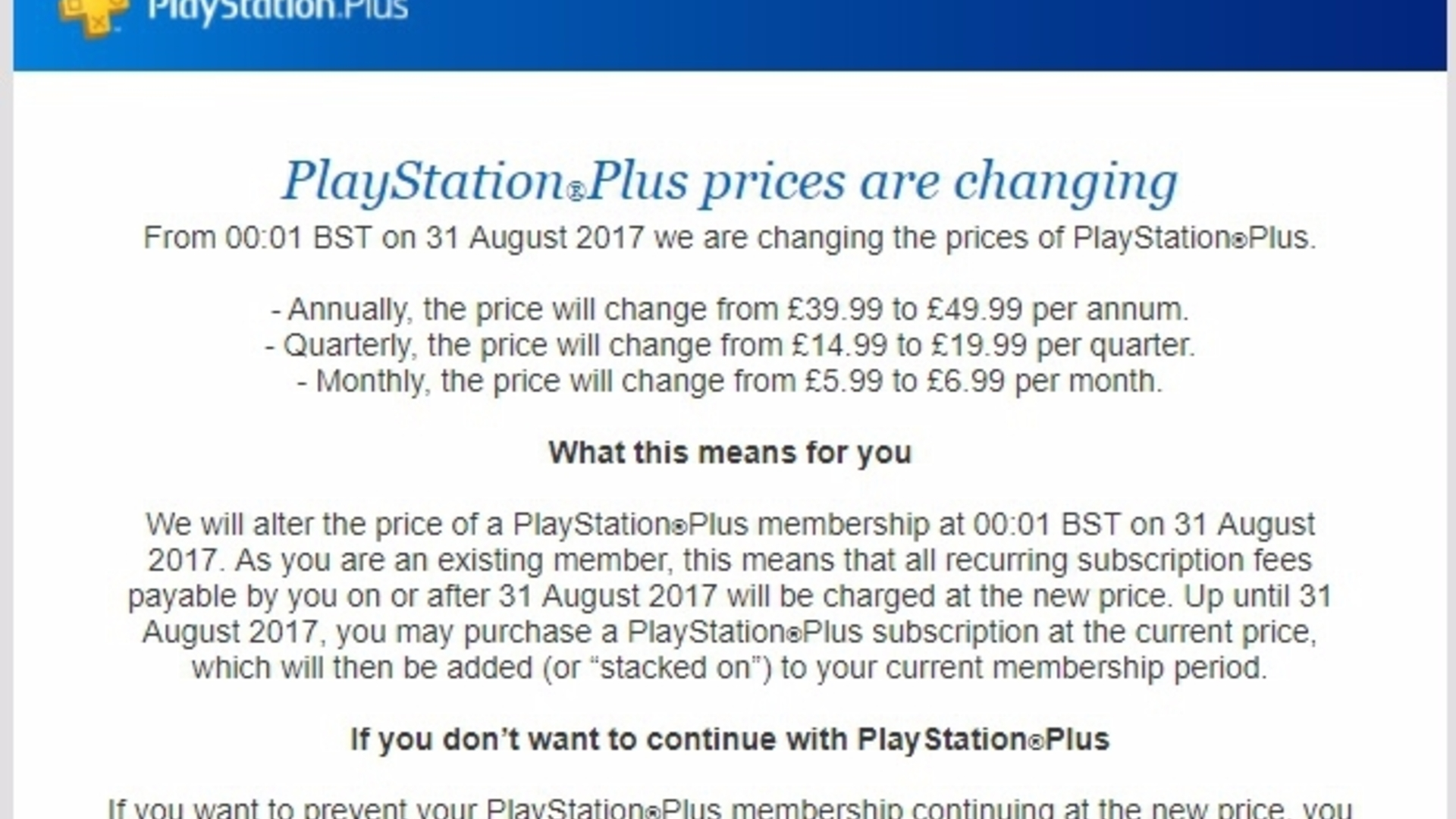 Playstation Plus Price Hike Announced For Europe Psn Usd 50