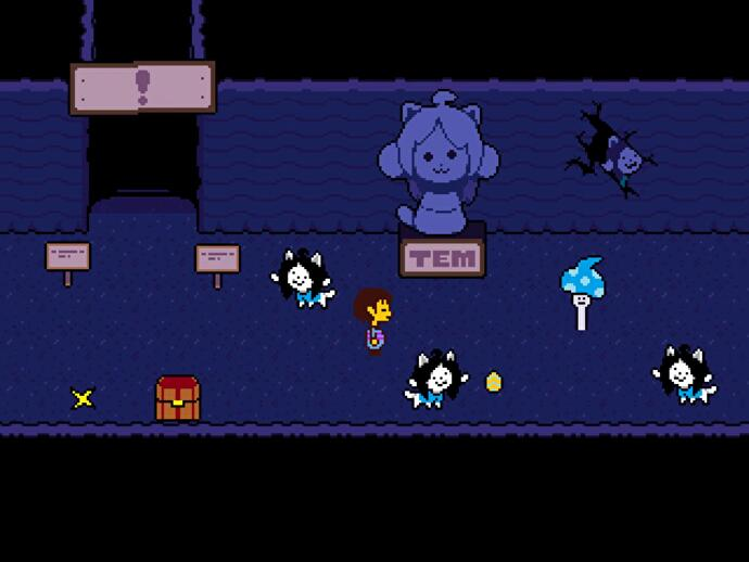 Undertale - Waterfall explored: Piano puzzle solution and