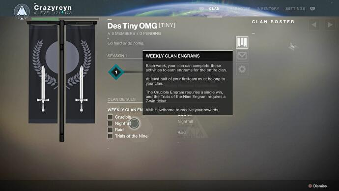 Destiny 2 Clans - how to join a Clan, how to earn Clan XP