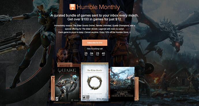 Jelly Deals: Quake Champions and Elder Scrolls Online in latest
