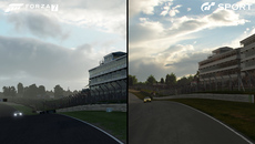 When looking at a track like Brands Hatch side by side, it's clear that both teams have poured great effort into duplicating the fine details visible in its environments.