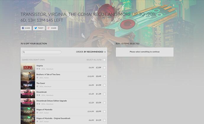 Jelly Deals: GOG's Weekly Sale features Transistor, Virginia, Tacoma