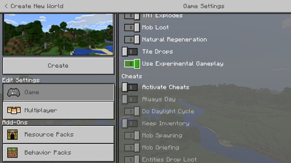 Minecraft on PC, Xbox One, Android adds opt-in experimental features