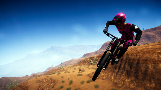 We Stunt Riskily Downhill in Extreme Mountain Biking Racer Descenders