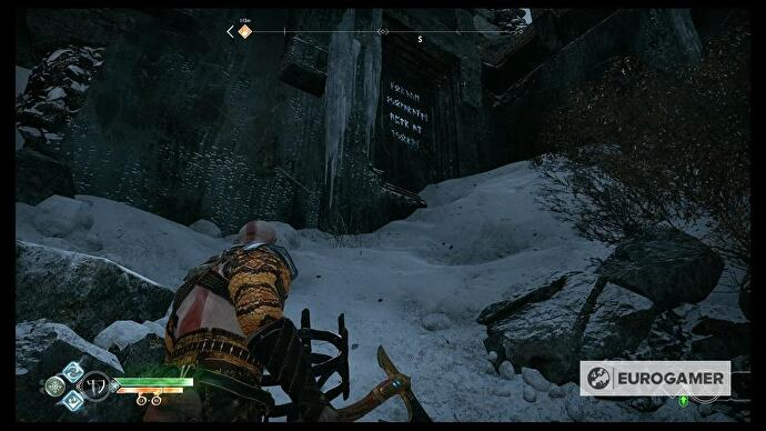 God of War - Thamur's Corpse puzzle solutions, Frozen Lake