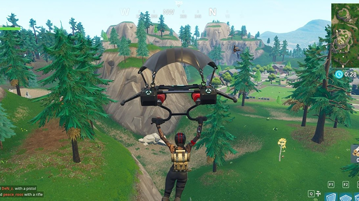 Fortnite - Gas station, Soccer pitch, and Stunt Mountain