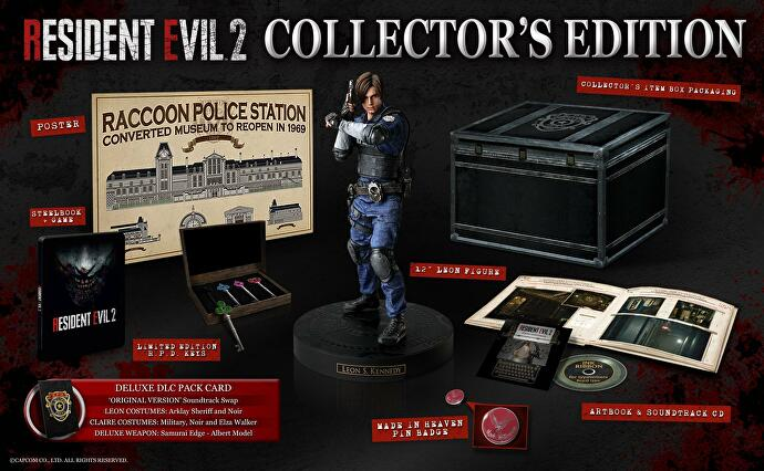 Resident Evil 2's UK Collector's Edition contains a 12