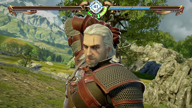 Witness Geralt of Rivia in Action in Soulcalibur 6 Witcher Gameplay