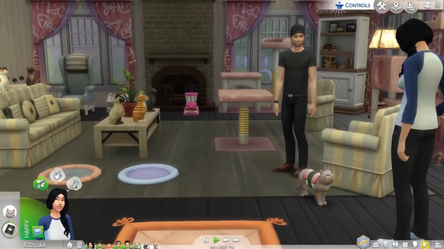 The Sims 4 Cats and Dogs Adds Pets to New Cat-Themed Home