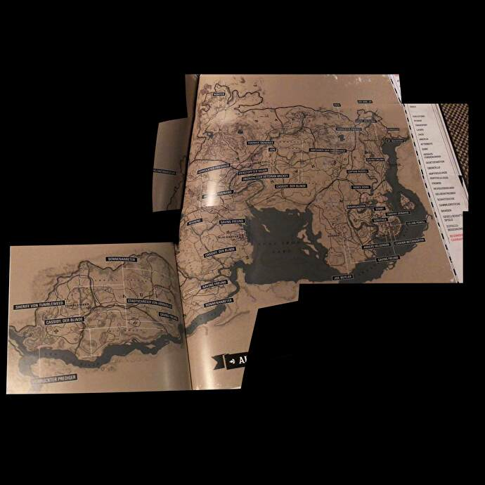 Red dead special edition map   RED DEAD REDEMPTION II 2